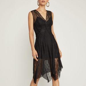 BCBG Asymmetrical Lace Trim Dress NWT